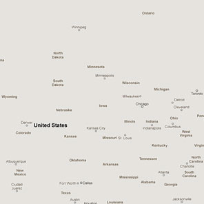 GoogleMaps without any of the usual landforms