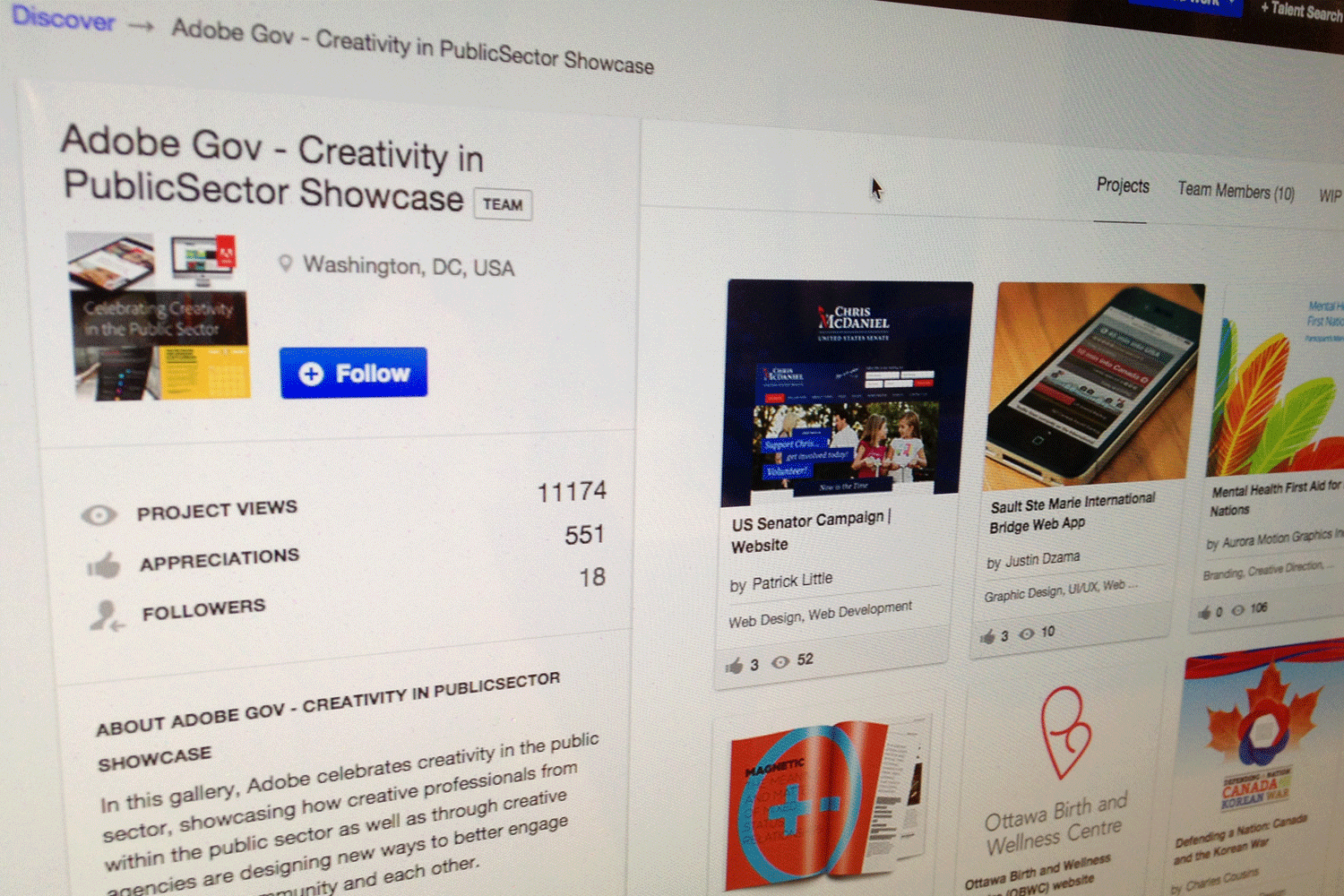 "Our Work Featured in Adobe's ""Creativity in the Public Sector"" Showcase"