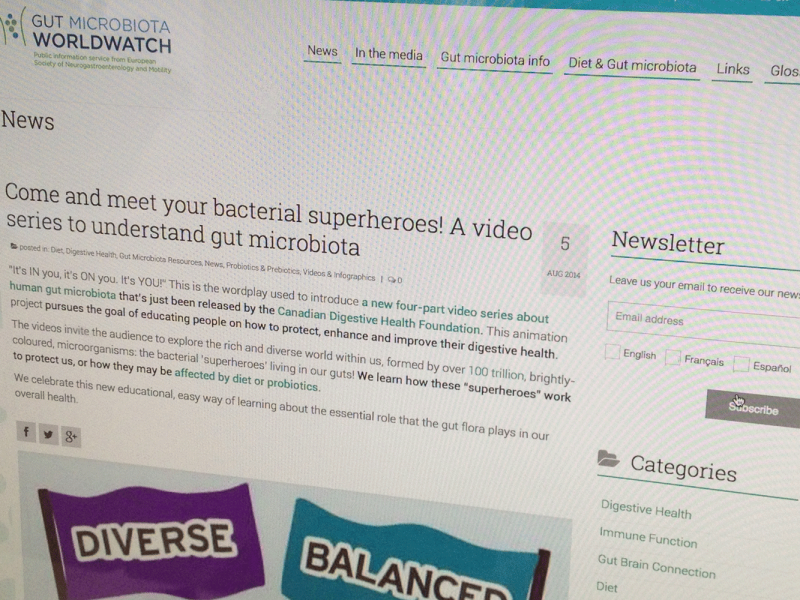 Microbiome Series Featured on Gut Microbiota Worldwatch